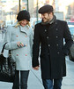 18 December 2008 - Cameron Diaz and Paul Sculfor take a romantic walk arm-in-arm in SoHo, NYC looking very much in love.   Photo Credit Jackson Lee