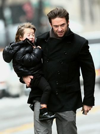 21 December 2008 - 2008 People Magazine Sexiest Man Alive Hugh Jackman takes wife Deborra-Lee Furness and kids Oscar and Ava to visit Naomi Watt's family a few days after she had her baby.   Photo Credit Jackson Lee