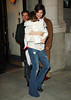 30 December 2008 - Tom Cruise holds Suri's favorite blanket as he heads out with Katie Holmes, and Suri Cruise to the Schoenfeld theatre for Katie's show 'All My Sons'. Photo Credit Jackson Lee