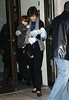 03 January 2009 - Katie Holmes and Suri Cruise head out to the Schoenfeld Theatre for a matinee performance of 'All My Sons'. Photo Credit Jackson Lee