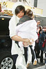 11 January 2009 - Katie Holmes arrives at the Schoenfeld Theater for the final performance of 'All My Sons' with Suri Cruise. Photo Credit Jackson Lee