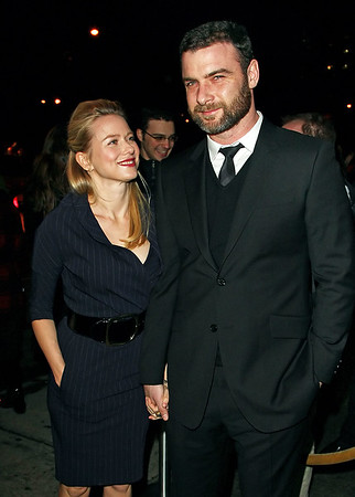 12 January 2009 - First shots of Naomi Watts and Liev Schreiber together at a red carpet in NYC for Liev's movie, 'Defiance'. Photo Credit Jackson Lee