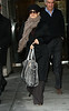 16 January 2009 - Salma Hayek and her big silver purse out and about in NYC. Photo Credit Jackson Lee