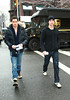 19 January 2009 - Chace Crawford and Penn Badgley on the set of 'Gossip Girl' in NYC. Photo Credit Jackson Lee
