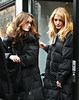 19 January 2009 - Leighton Meester and Blake Lively take a break from filming by going to the Christian Louboutin store on Madison Avenue. Photo Credit Jackson Lee