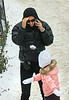 22 January 2009 - Coco Arquette throws a snowball at mom Courteney Cox and grandmother Courteney Copeland in Central Park. Photo Credit Jackson Lee