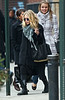 30 January 2009 - Mary-Kate Olsen and Ashley Olsen go for lunch at the SoHo House in NYC. Photo Credit Jackson Lee