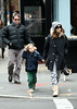 EXCLUSIVE<br /> 28 February 2009 - Sarah Jessica Parker, Matthew Broderick, James Wilkie Broderick go for a nice family stroll despite troubled marriage rumours between Broderick and Parker. Photo Credit Jackson Lee