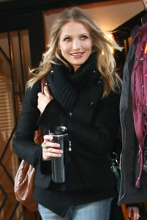 3 March 2009 - Cameron Diaz heads out to the Jimmy Fallon show in NYC. Photo Credit Jackson Lee