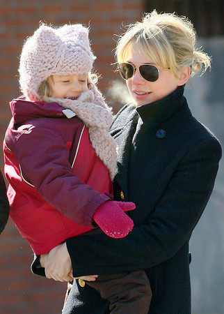 4 March 2009 - Michelle Williams takes Matilda Ledger to the coffee shop in NYC. Photo Credit Jackson Lee