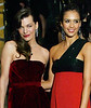 26 March 2009 - Jessica Alba, Milla Jovovich, Cash Warren gets close together at the 2009 American Museum Of Natural History's Museum Dance. Photo Credit Jackson Lee