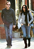 5 April 2009 - Kiefer Sutherland and Tricia Cardozo walks hand-in-hand in the West Village, NYC . Photo Credit Jackson Lee