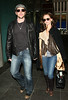 7 April 2009 - Jennifer Love Hewitt and Jamie Kennedy out and about in NYC. Jamie is asked by a bystander how he was able to 'score' Jennifer; she replied it was the the personality.  Photo Credit Jackson Lee