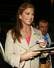 7 April 2009 - Kathy Ireland out and about in NYC signing autographs.  Photo Credit Jackson Lee