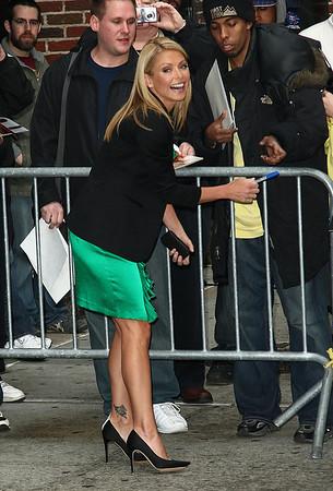 14 April 2009 - Kelly Ripa at the 'David Letterman' show in NYC.  Photo Credit Jackson Lee