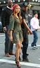 18 April 2009 - Beyonce and Jay-Z are all smiles while shopping for sunglasses in Soho, NYC.  The pair walked casually on a crowded sunny Saturday afternoon.  While inside the store, Jay-Z would nudge Beyonce with his hand to show her various sunglasses that he liked.  Afterwards, the couple walked back to their Porsche turbo car and disappeared as quick as they appeared.  Photo Credit Jackson Lee