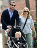 """18 April 2009 - Alexander """"Sacha"""" Pete Schreiber points just like his father Liev Schreiber while out and about with baby brother Samuel Kai and mom Naomi Watts in NYC.  Photo Credit Jackson Lee"""