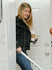 20 April 2009 - Jennifer Aniston on the set of 'The Baster' in NYC.  Photo Credit Jackson Lee
