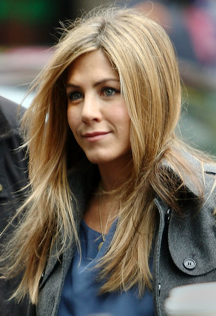 21 April 2009 - Jennifer Aniston on the set of 'The Baster' in NYC. Photo Credit Jackson Lee