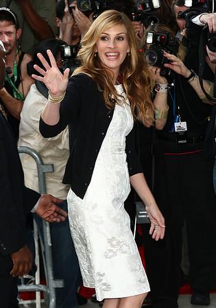27 April 2009 - Julia Roberts and Charlize Theron honors Tom Hanks at Lincoln Center, NYC.  Photo Credit Jackson Lee