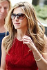 28 April 2009 - Jennifer Aniston on the set of 'The Baster' in NYC.  Photo Credit Jackson Lee