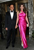 29 April 2009 - Arun Nayer and  Elizabeth Hurley out and about in NYC.  Photo Credit Jackson Lee