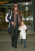 25 May 2009 - Brooke Shields, who regrets not losing virginity sooner, arrives at JFK airport with daughter Rowan. Photo Credit Jackson Lee