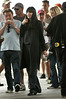 31 May 2009 - Angelina Jolie looks a little pregnant on the set of 'Salt' in NYC. Photo Credit Jackson Lee