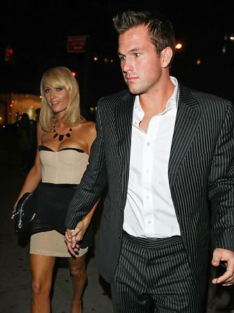 1 June 2009 - Paris Hilton and Doug Reinhardt head to La Esquina for dinner in NYC. Photo Credit Jackson Lee