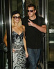 3 June 2009 - Paris Hilton and Doug Reinhardt head out of their NYC hotel en route to the airport. Photo Credit Jackson Lee