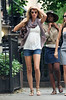 13 June 2009 - Gisele Bundchen flaunts what looks to be her baby bump while on a walk with friends in the West Village, NYC.  She also appears to have a larger bust than previously pictured.   Photo Credit Jackson Lee
