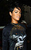 15 June 2009 - Rihanna carries a black umbrella while out and about in NYC.  Photo Credit Jackson Lee
