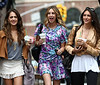 17 June 2009 - Whitney Port films a scene for 'The City' in NYC.  Photo Credit Jackson Lee