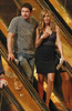 25 June 2009 - Jennifer Aniston and Gerard Butler seen close together while heading down the escalator to the slot machines and the table games at Trump Taj Mahal after finishing filming earlier in the day in Atlantic City, NJ. . Photo Credit Jackson Lee