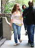 29 June 2009 - Leighton Meester and Ed Westwick on the set of 'Gossip Girl' in NYC.  Photo Credit Jackson Lee