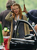 2 July 2009 - Nicole Kidman keeps dry under an umbrella on the set of 'Rabbit Hole' in NYC.  Photo Credit Jackson Lee