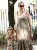 3 July 2009 - Heidi Klum and her mom Erna Klum takes Leni, Oscar, Henry Samuel out for fresh air in the West Village, NYC.  Photo Credit Jackson Lee