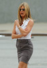 11 July 2009 - Jennifer Aniston on location for 'The Bounty' in NYC.  Photo Credit Jackson Lee