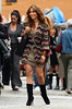 16 July 2009 - First shots of Jennifer Lopez on location for 'The Backup Plan' in TriBeCa, NYC coming out of a subway station with a co-star.  Photo Credit Jackson Lee