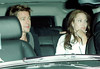 Brad Pitt holds on to Angelina Jolie's arm as the two arrive for dinner at Robert DeNiro's apartment in NYC after Angelina spent promoting 'The Good Shepherd'.  Photo Credit Jackson Lee<br /> 718-908-7031<br /> <br /> LJNY BPNY CDRLA MJNY 101206 A