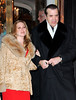 Chazz Palminteri and wife depart Robert DeNiro's apartment in NYC after having dinner there.  Photo Credit Jackson Lee<br /> 718-908-7031<br /> <br /> LJNY BPNY CDRLA MJNY 101206 A