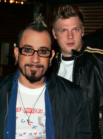 *** EXCLUSIVE ***<br /> 9 Jan 2007 - New York, NY - Nick Carter, AJ McLean, and Samantha Cole hang out at a NYC hotspot for AJ's 29th birthday.  Photo Credit Jackson Lee