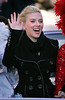 16 Feb 2007 - New York, NY - Scarlett Johansson gets honored by Harvard University by riding in an convertible car in a parade.  During the brief parade, Scarlett catches a stuffed pig thrown to her by the crowd, gets kissed by Harvard seniors Justin Rodriguez (VP of casting) and Josh Brener (President of Hasty Pudding) and waves her hand like the Queen of England.   Johansson is Harvard University's 2007 Hasty Pudding Women of the Year.  Photo Credit Jackson Lee