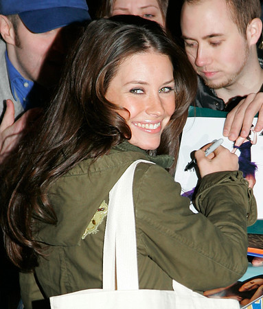 27 Feb 2007 - New York, NY - Evangeline Lilly departs the 'Late Show with David Letterman' .  Photo Credit Jackson Lee