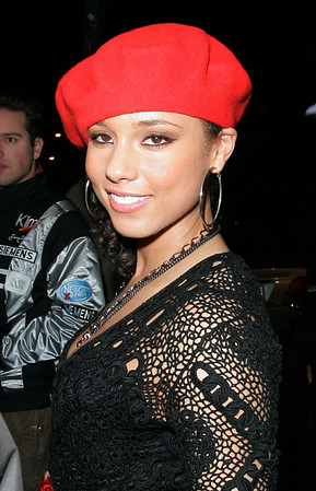 1 March 2007 - New York, NY - Kerry Krucial and Alicia Keys enters Stereo club where the afterparty for John Mayer is being held.  Photo Credit Jackson Lee