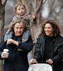 10 March 2006 - New York, NY -  Harvey Keitel, Roman Keitel, and Daphna Kastna take a stroll on a warm Saturday afternoon in the West Village.  Photo Credit Jackson Lee