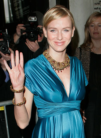 11 March 2006 - New York, NY -  Naomi Watts shows off her glowing pregnant belly at the premiere of her boyfriend Liev Shreiber's new Broadway Show 'Talk Radio'.  Photo Credit Jackson Lee