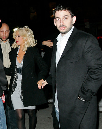 21 March 2006 - New York, NY - Christina Aguilera and Jordan Bratman out and about in NYC.  Photo Credit Jackson Lee