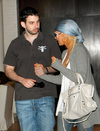 03 June 2007 - New York, NY - Christina Aguilera and Jordan Bratman out and about in NYC despite the rainy day.  Photo Credit Jackson Lee