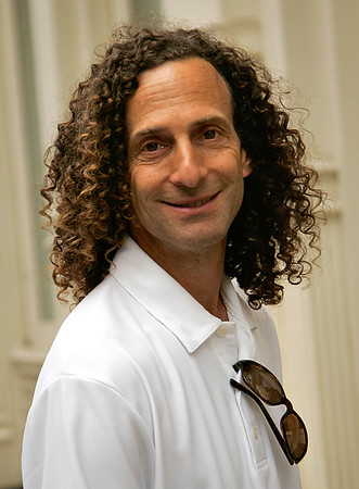 03 June 2007 - New York, NY - Kenny G and sons out and about in NYC.  Photo Credit Jackson Lee